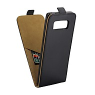 Недорогие Чехлы и кейсы для Galaxy Note 8-Кейс для Назначение SSamsung Galaxy Note 8 Бумажник для карт / Флип Чехол Однотонный Твердый Кожа PU для Note 8