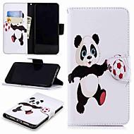 お買い得  携帯電話ケース-ケース 用途 Huawei P9ライトミニ / P smart ウォレット / カードホルダー / スタンド付き フルボディーケース パンダ ハード PUレザー のために Huawei P20 / Huawei P20 Pro / Huawei P20 lite