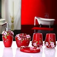 abordables Gadgets de Baño-Set de Accesorios de Baño Creativo / Nuevo diseño Modern Resina 5pcs - Baño Sencilla