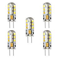 お買い得  -BRELONG® 5個 3 W 250 lm G4 LEDコーン型電球 / LED2本ピン電球 T 24 LEDビーズ SMD 2835 装飾用 温白色 / ホワイト 12 V
