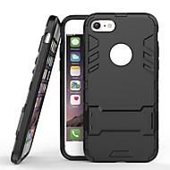 Недорогие Кейсы для iPhone 8 Plus-Кейс для Назначение Apple iPhone 8 Plus / iPhone 7 Plus со стендом Кейс на заднюю панель Однотонный Твердый ПК для iPhone 8 Pluss / iPhone 7 Plus