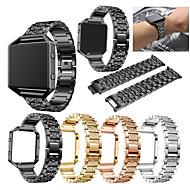 Недорогие Аксессуары для смарт-часов-Ремешок для часов для Fitbit Blaze Fitbit Спортивный ремешок / Дизайн украшения Нержавеющая сталь Повязка на запястье