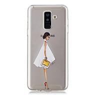 Недорогие Чехлы и кейсы для Galaxy A5(2017)-Кейс для Назначение SSamsung Galaxy A6+ (2018) / A6 (2018) Прозрачный / С узором Кейс на заднюю панель Соблазнительная девушка Мягкий ТПУ для A6 (2018) / A6+ (2018) / A3 (2017)