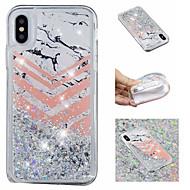 Недорогие Кейсы для iPhone 8 Plus-Кейс для Назначение Apple iPhone X / iPhone 8 Plus Движущаяся жидкость / С узором / Сияние и блеск Кейс на заднюю панель Сияние и блеск / Мрамор Мягкий ТПУ для iPhone X / iPhone 8 Pluss / iPhone 8