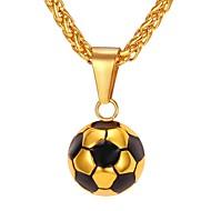 お買い得  -男性用 ロープ ペンダントネックレス  -  ステンレス鋼 ボール型 ファッション ゴールド, シルバー 55 cm ネックレス ジュエリー 1個 用途 贈り物, 日常