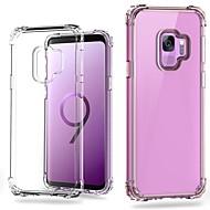 Недорогие Чехлы и кейсы для Galaxy S9-Кейс для Назначение SSamsung Galaxy S9 Plus / S9 Защита от удара / Прозрачный Кейс на заднюю панель Однотонный Твердый ПК для S9 / S9 Plus