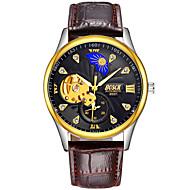 お買い得  -BOSCK 機械式時計 エミッタ 耐水, 透かし加工, 夜光計 ホワイト / ブラック / ゴールド / 自動巻き