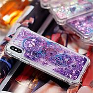 Недорогие Кейсы для iPhone 8 Plus-Кейс для Назначение Apple iPhone X / iPhone 8 Plus Защита от удара / Движущаяся жидкость / Прозрачный Кейс на заднюю панель Ловец снов Мягкий ТПУ для iPhone X / iPhone 8 Pluss / iPhone 8
