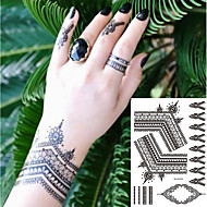 cheap Temporary Tattoos-2 pcs Temporary Tattoos Totem Series / Romantic Series Smooth Sticker / Safety Body Arts Hand / Decal-style temporary tattoos