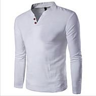 economico I più venduti-T-shirt Per uomo Essenziale Tinta unita Rotonda / Manica lunga