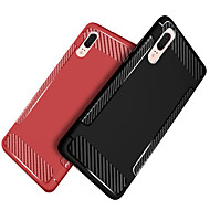 お買い得  携帯電話ケース-ケース 用途 Huawei P20 / P20 lite 耐衝撃 / つや消し バックカバー ソリッド ソフト TPU のために Huawei P20 / Huawei P20 Pro / Huawei P20 lite