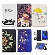 Недорогие Чехлы и кейсы для Samsung Tab-Кейс для Назначение SSamsung Galaxy Tab A 10.1 (2016) Кошелек / Бумажник для карт / со стендом Чехол Слон Твердый Кожа PU для Tab A 10.1 (2016)