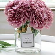 abordables Flores Artificiales-Flores Artificiales 1 Rama Sencilla Elegante Florero Flor de Mesa