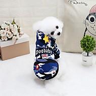 abordables -Rongeurs / Chiens / Chats Pull / Sweatshirt / Combinaison-pantalon Vêtements pour Chien Couleur Pleine / Géométrique Vert / Bleu Coton Costume Pour les animaux domestiques Femme Sports & Activités