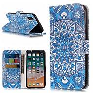 Недорогие Кейсы для iPhone 8 Plus-Кейс для Назначение Apple iPhone X / iPhone 8 Plus Кошелек / Бумажник для карт / со стендом Чехол Мандала Твердый Кожа PU для iPhone X / iPhone 8 Pluss / iPhone 8