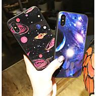 Недорогие Кейсы для iPhone 8-Кейс для Назначение Apple iPhone X / iPhone 8 С узором Кейс на заднюю панель Пейзаж Твердый Закаленное стекло для iPhone X / iPhone 8 Pluss / iPhone 8