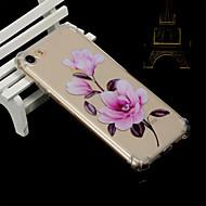 Недорогие Кейсы для iPhone 8-Кейс для Назначение Apple iPhone X / iPhone 8 Защита от удара / Прозрачный / Полупрозрачный Кейс на заднюю панель Цветы Мягкий ТПУ для iPhone X / iPhone 8 Pluss / iPhone 8