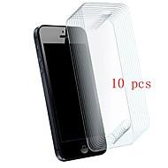 Недорогие Защитные плёнки для экрана iPhone-Защитная плёнка для экрана для Apple iPhone SE / 5s / iPhone 5 Закаленное стекло 10 ед. Защитная пленка для экрана Уровень защиты 9H / Защита от царапин