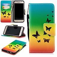 Недорогие Чехлы и кейсы для Galaxy A3(2017)-Кейс для Назначение SSamsung Galaxy A3(2017) Кошелек / Бумажник для карт / со стендом Чехол Бабочка Твердый Кожа PU для A3 (2017)