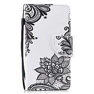 Недорогие Чехлы и кейсы для Galaxy А-Кейс для Назначение SSamsung Galaxy A5(2017) Кошелек / Бумажник для карт / Флип Чехол Цветы Твердый Кожа PU для A5 (2017)