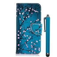 Недорогие Чехлы и кейсы для Galaxy A5(2017)-Кейс для Назначение SSamsung Galaxy A6+ (2018) / A6 (2018) Кошелек / Бумажник для карт / со стендом Чехол Цветы Твердый Кожа PU для A6 (2018) / A6+ (2018) / A5 (2017)