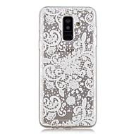 Недорогие Чехлы и кейсы для Galaxy A5(2017)-Кейс для Назначение SSamsung Galaxy A6+ (2018) / A6 (2018) Прозрачный / С узором Кейс на заднюю панель Кружева Печать Мягкий ТПУ для A6 (2018) / A6+ (2018) / A3 (2017)