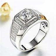 Ανδρικά 3D Δαχτυλίδι - Προσομειωμένο διαμάντι Στυλάτο, Κλασσικό Κοσμήματα Ασημί Για Γάμου Καθημερινά Μασκάρεμα Πάρτι Αρραβώνων Χοροεσπερίδα Ρυθμιζόμενο