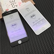 Недорогие Защитные плёнки для экрана iPhone-Защитная плёнка для экрана для Apple iPhone 6s Plus / iPhone 6s / iPhone 6 Plus Закаленное стекло 1 ед. Защитная пленка для экрана Уровень защиты 9H / Фильтр синего света / 3D закругленные углы
