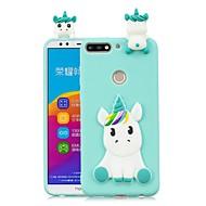 お買い得  携帯電話ケース-ケース 用途 Huawei Honor 7X / Honor 7C(Enjoy 8) DIY バックカバー ユニコーン ソフト TPU のために Huawei Honor 9 Lite / Honor 7X / Honor 7C(Enjoy 8)