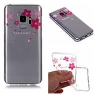 Недорогие Чехлы и кейсы для Galaxy S-Кейс для Назначение SSamsung Galaxy S9 Plus / S9 IMD / Прозрачный / С узором Кейс на заднюю панель Цветы Мягкий ТПУ для S9 / S9 Plus / S8 Plus