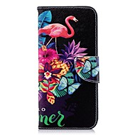 Недорогие Чехлы и кейсы для Galaxy S8 Plus-Кейс для Назначение SSamsung Galaxy S9 Plus / S8 Plus Кошелек / Бумажник для карт / со стендом Чехол Фламинго Твердый Кожа PU для S9 / S9 Plus / S8 Plus