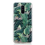 Недорогие Чехлы и кейсы для Galaxy A3(2017)-Кейс для Назначение SSamsung Galaxy A6+ (2018) / A6 (2018) Прозрачный / С узором Кейс на заднюю панель дерево Мягкий ТПУ для A6 (2018) / A6+ (2018) / A3 (2017)