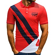 cheap -Men's Basic / Street chic Polo - Color Block / Letter Print
