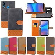 preiswerte Handyhüllen-Hülle Für Huawei P20 Pro / P20 lite Geldbeutel / Kreditkartenfächer / mit Halterung Ganzkörper-Gehäuse Anwendung Hart Textil für Huawei P20 / P10 Plus / P10 Lite