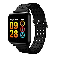 smartwatch m19 kvinner menn hjertefrekvens blodtrykk bluetooth vanntett sport smart armbånd for android ios
