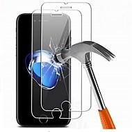 abordables Protectores de Pantalla para iPhone-Protector de pantalla para Apple iPhone 7 Plus Vidrio Templado 2 pcs Protector de Pantalla Frontal Alta definición (HD) / Dureza 9H / Borde Curvado 2.5D