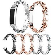 Недорогие Аксессуары для смарт-часов-Ремешок для часов для Fitbit Alta HR / Fitbit Alta Fitbit Спортивный ремешок / Дизайн украшения Нержавеющая сталь / Керамика Повязка на запястье