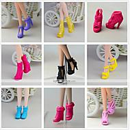 abordables Muñecas y Peluches-Princesa Zapatos por Muñeca Barbie  Negro CLORURO DE POLIVINILO Zapatos por Chica de muñeca de juguete