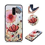 Недорогие Чехлы и кейсы для Galaxy Note-Кейс для Назначение SSamsung Galaxy Note 9 С узором Кейс на заднюю панель Бабочка / Цветы Мягкий ТПУ для Note 9
