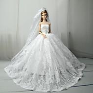 Esküvő Ruhák mert Barbie baba Csipke / Szatén Ruha mert Lány Doll Toy
