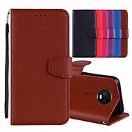 preiswerte Handyhüllen-Hülle Für Motorola MOTO G6 / Moto G6 Plus Kreditkartenfächer / mit Halterung / Flipbare Hülle Ganzkörper-Gehäuse Solide Hart PU-Leder für MOTO G6 / Moto G6 Plus / Moto G5