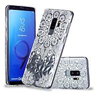 Недорогие Чехлы и кейсы для Galaxy S9 Plus-Кейс для Назначение SSamsung Galaxy S9 Plus / S9 Прозрачный / С узором Кейс на заднюю панель Мандала / Кружева Печать Мягкий ТПУ для S9 / S9 Plus / S8 Plus