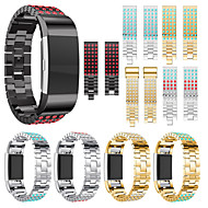 abordables Accesorios para Smartwatch-Ver Banda para Fitbit Charge 2 Fitbit Correa Deportiva / Diseño de la joyería Acero Inoxidable / Cerámica Correa de Muñeca