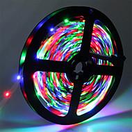 お買い得  -5m フレキシブルLEDライトストリップ 300 LED 3528 SMD RGB カット可能 / 接続可 / ノンテープ・タイプ 12 V 1個