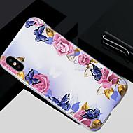 Недорогие Кейсы для iPhone 8-Кейс для Назначение Apple iPhone X / iPhone 8 Полупрозрачный / С узором Кейс на заднюю панель Цветы Мягкий ТПУ для iPhone X / iPhone 8 Pluss / iPhone 8