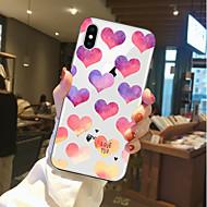 Недорогие Кейсы для iPhone 8 Plus-Кейс для Назначение Apple iPhone X / iPhone 8 Прозрачный / С узором Кейс на заднюю панель С сердцем Мягкий ТПУ для iPhone X / iPhone 8 Pluss / iPhone 8