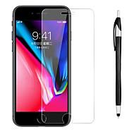 Недорогие Защитные плёнки для экранов iPhone 8-Защитная плёнка для экрана для Apple iPhone 8 / iPhone 7 Закаленное стекло 1 ед. Защитная пленка для экрана / Протектор объектива спереди и камеры HD / Уровень защиты 9H / Против отпечатков пальцев