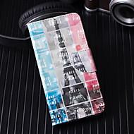 Недорогие Чехлы и кейсы для Galaxy S9-Кейс для Назначение SSamsung Galaxy S9 Plus / S9 Кошелек / Бумажник для карт / со стендом Чехол Эйфелева башня Твердый Кожа PU для S9 / S9 Plus / S8 Plus