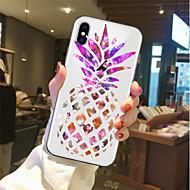 Недорогие Кейсы для iPhone 8 Plus-Кейс для Назначение Apple iPhone X / iPhone 8 Прозрачный / С узором Кейс на заднюю панель Фрукты Мягкий ТПУ для iPhone X / iPhone 8 Pluss / iPhone 8
