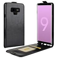 Недорогие Чехлы и кейсы для Galaxy Note 8-Кейс для Назначение SSamsung Galaxy Note 9 / Note 8 Бумажник для карт / Флип / Магнитный Чехол Однотонный Твердый Кожа PU для Note 9 / Note 8
